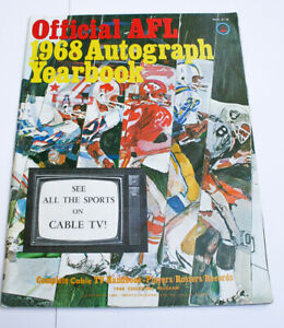 Rare! Official AFL 1968 Autograph Yearbook American Football League Magazine