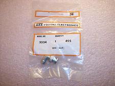 Qty 1 3534 Itt Pomona M F Bnc Adapter Ra 50 Ohm