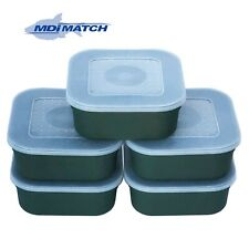 MDI Match 1 Pint Fishing Green Maggot Bait Boxes + Lids Pack of 5
