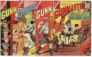 Gunmaster #1 - 4, Vol. 5 #84 - 88  avg. VG/FN 5.0  Charlton  1964  No Reserve