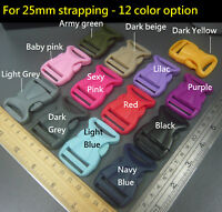 25mm Plastic side release buckles clips Fasteners -DIY Handbag/Backpack/Bag belt