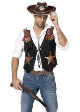 Deluxe Mens Wild West Cowboy Waistcoat