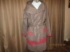 Capote coat size lg,  brown Swiss army/ White cross