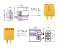 XT30 XT60 XT90 Hochstrom Gold Stecker und Buchse Lipo Akku mit Schrumpfschlauch