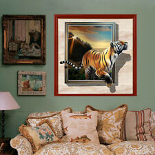 5D Full Drill Diamond Painting with Frames Tiger Cross Stitch Home Decors