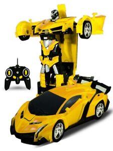 Baby Kids Toy RC Car Transformation Robots Remote Control Boy Gift