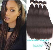 "Brazilian Dark Brown 4 Bundles Silky Straight 8""-26"" 100% Human Hair Extensions"