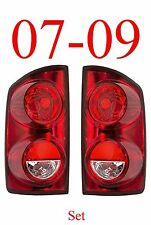 07 09 Dodge Tail Light Set, Assembly, Ram, Truck, 1500 2500 & Mega Cab, Both L&R