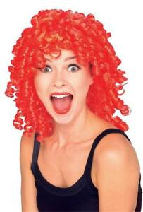 Curly Top Wig 80's Neon Perm Fancy Dress Up Halloween Costume Accessory 3 COLORS