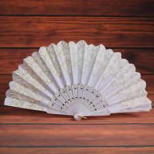 Bamboo Foldable Hand Fans Flower Fan Chinese Classical Dance Party Gifts New