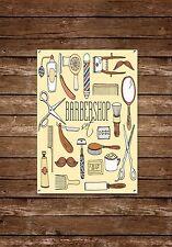 Barber Shop Sign, Metal Sign, Barber Shop Signs, Vintage Style, Barber Shop, 649
