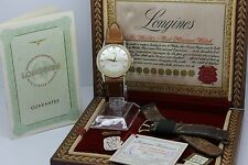 VINTAGE c.1958 Longines 14k Gold Grand Prize Automatic Mens Watch = FULL SET =