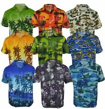 Mens Hawaiian Fancy Dress Beech Floral Shirt Holiday Short Sleeve Casual M-3XL