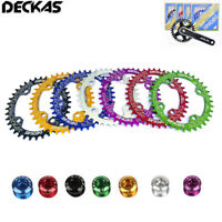 DECKAS 104bcd MTB Bike Chainring Narrow Wide Cycling Chainwheel Bolts 32-38T
