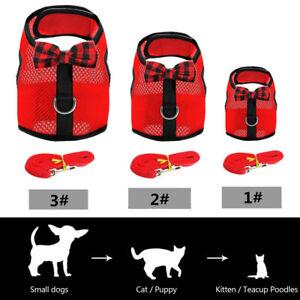 XXXS XXS XS Puppy Dog Chihuahua Harness Lead Mesh Vest for Tiny Kitty Cat Yorkie