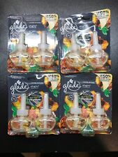 4 Packs 2 GLADE PLUGINS SCENTED OIL REFILLS LIMITED EDITION SULTRY AMBER RHYTHM