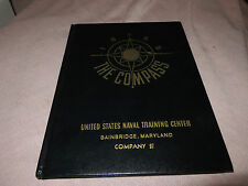 1955 THE COMPASS, U.S. Naval Training Center, Bainbridge ,Maryland , Company 97