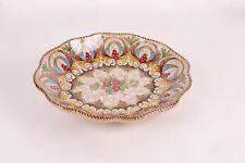 Piatto ovale, svuotatasche ceramica G. Molaroni Gradara.
