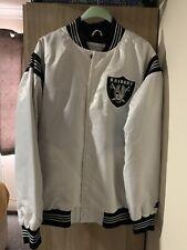 Rare NFL Oakland Vegas Raiders Starter Satin Bomber Jacket Size Large