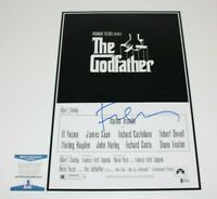 DIRECTOR FRANCIS FORD COPPOLA SIGNED 'THE GODFATHER' MOVIE POSTER BECKETT COA