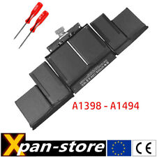 battery for Apple MacBook Pro 15 Retina A1398 late 2013 2014 A1494 batterie