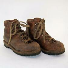 Vintage Raichle Brown Leather Hiking Mountaineering Boots Men Size 5M Women 6.5M