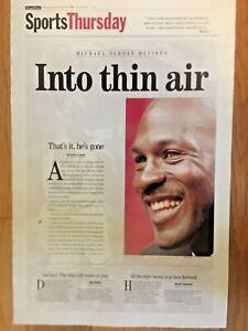 15x23 Collectible Michael Jordan Retirement Front page Poster
