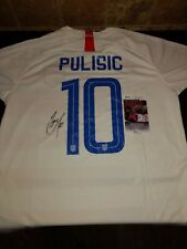CHRISTIAN PULISIC SIGNED Team USA Jersey JSA autograph FC CHELSEA 2 XL