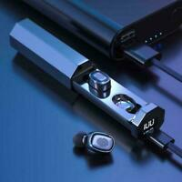 TWS LCD Bluetooth 5.0 Headset Drahtlose Kopfhörer Wasserdichter Kopfhörer Z2U4