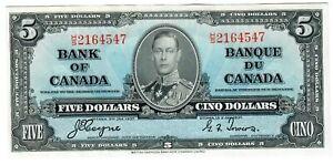"Canada 5 Dollars 1937 Gem UNC ""H/S"" Coyne-Towers"