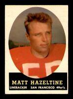1958 Topps Set Break # 100 Matt Hazeltine EX *OBGcards*