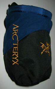 """ARC'TERYX"" Black/Blue Climbing Chalk Bag Nice !!!"