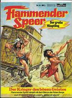 Flammender Speer Nr.24 von 1979 mit Poster - TOP Z1 BASTEI WESTERN COMICHEFT