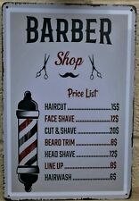 Barber tattoo hair metal tin sign vintage cafe pub poster retro garage kitchen