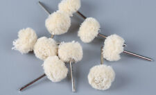 10PCS 1'' Buffing Polishing Wheels Cotton Thread Abrasive Drill for Rotary Tools