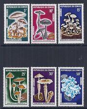 1970 Republic of Congo - SC 208-213   MI 232-237 Mushroom Fungi - MNH*