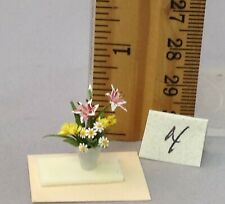 Dollhouse Miniature 1/4 scale flower arrangement #4