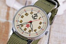 Cool Russian watch POBEDA! USSR Navy! Mechanical movement, new band. Exclusive!