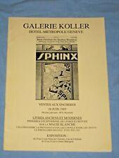 Catalogo Asta GALERIE KOLLER Prestidigitation Illusionisme  1989  (T5)