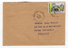 CÔTE D'IVOIRE 1 timbre sur lettre tampon 1996 Abidjan   /L887