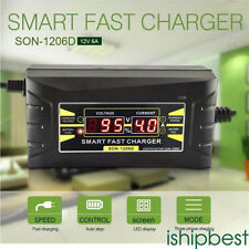 Souer 12V 6A LCD Display Smart Car Motorcycle Intelligent Battery Charger US/EU