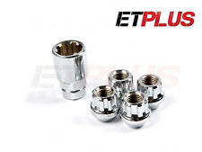 4x Chrome Locking Wheel Nuts M12x1.5 Fits Kia Carens Cee d Venga Soul Carnival