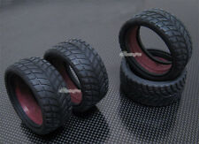 Rubber Front + Rear Tires 26mm for Tamiya Volkswagen Race-Touareg CC-01