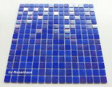 Glasmosaik - Mosaik Matte auf Netz Mix-Dunkelblau 32,7x32,7cm; Steinchen 2x2cm