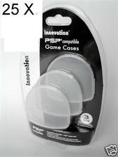 25 packs of 3 =75  PSP UMD Game Movie Disk Disc Case Holders shipped bulk pack