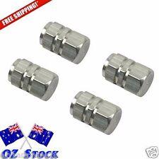4 Sliver Wheel Tyre Valve Caps Air Dust Cover Aluminium Car -Oz Stock