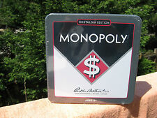 Monopoly Nostalgia Edition Board Game In Tin Box Hasbro 2012~New & Sealed!