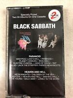 BLACK SABBATH CASSETTE 2 Albums On One Cassette Paranoid Heaven And Hell 1980