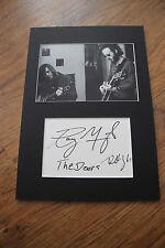 THE DOORS Robbie Krieger Ray Manzarek signed Autogramm in Passepartout InPerson