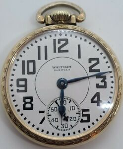 Antique Working Model 1908 WALTHAM Riverside 21J Gold 10K R.G.P Pocket Watch 16s
